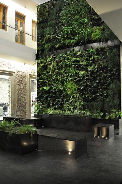 "ultimative grune architektur bepflanzten wanden, garcía"" zen garden by rafael lópez corona #greenwall #verticalgarden, Design ideen"