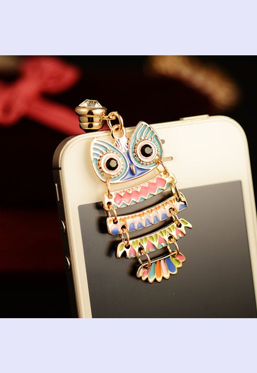 Colorful Owl Pendant Plugy for iPhone NBV213