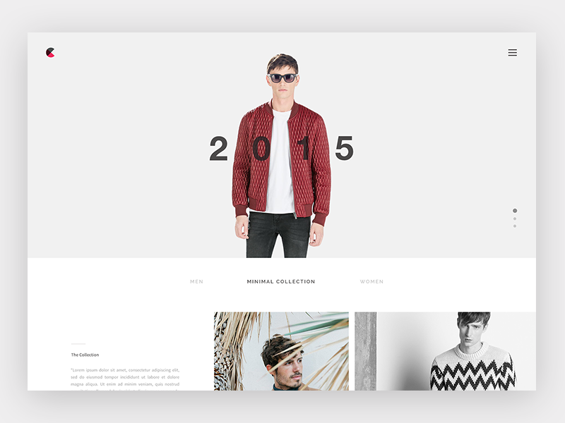 Fashion Website Interface