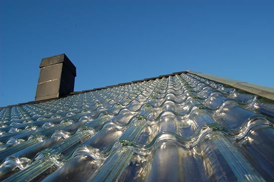 Glass tiles for home heating system by SolTech Energy