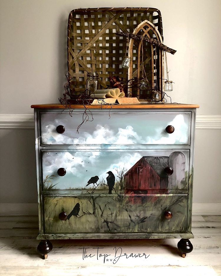 Hand Painted Art On Furniture Why Not, Is Painted Furniture Still Popular