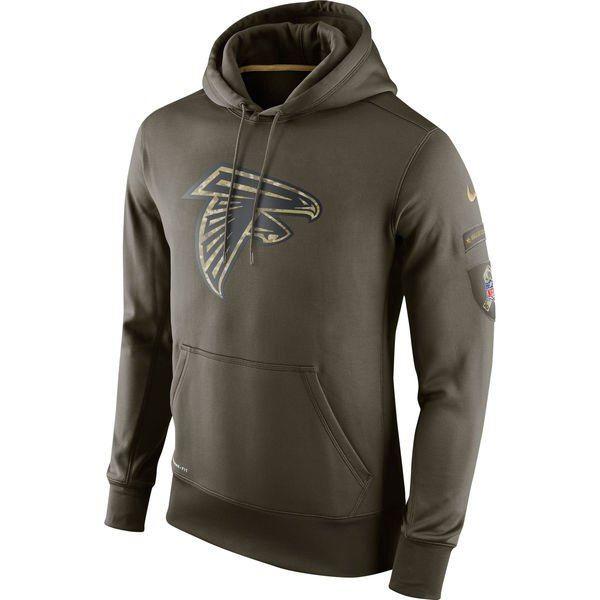 online retailer 39c77 60b21 Men's Atlanta Falcons Green Salute To Service 2015 NFL Nike ...