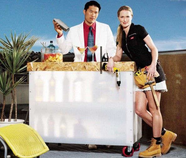 Do It Yourself Outdoor Bar: Posted By ReadyMade Build A Portable Outdoor Bar Project