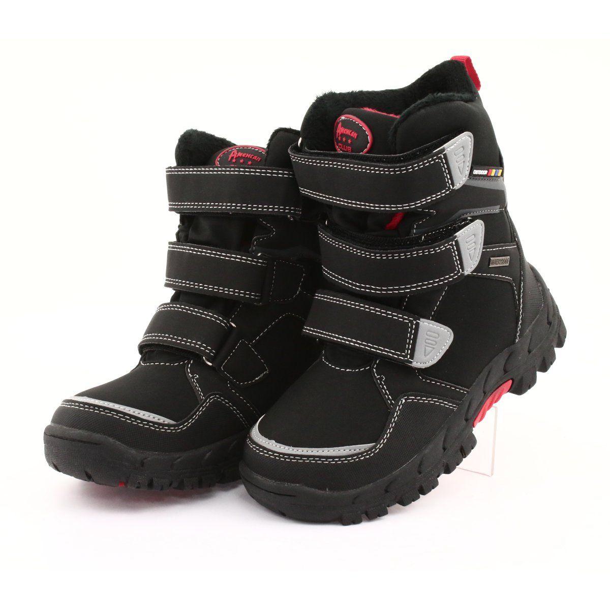 Kozaki Z Membrana American Club Rl32 Czarne Czerwone Boots Childrens Boots Kid Shoes