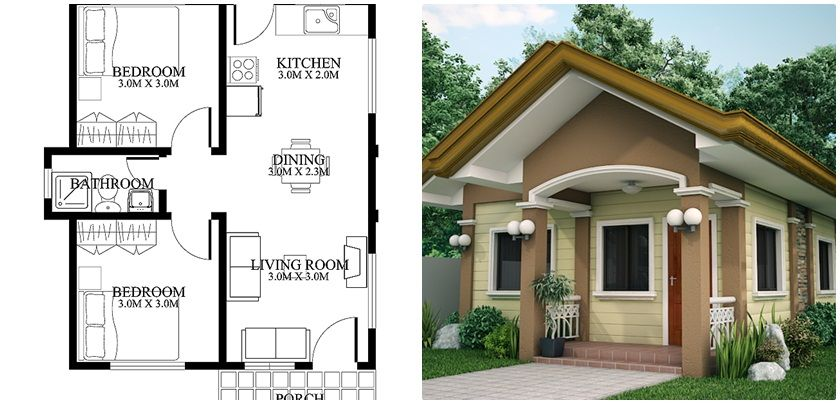 Small House Design Lot Of Are 120 Sq M With House Plan Small House Design Architectural House Plans House Construction Plan