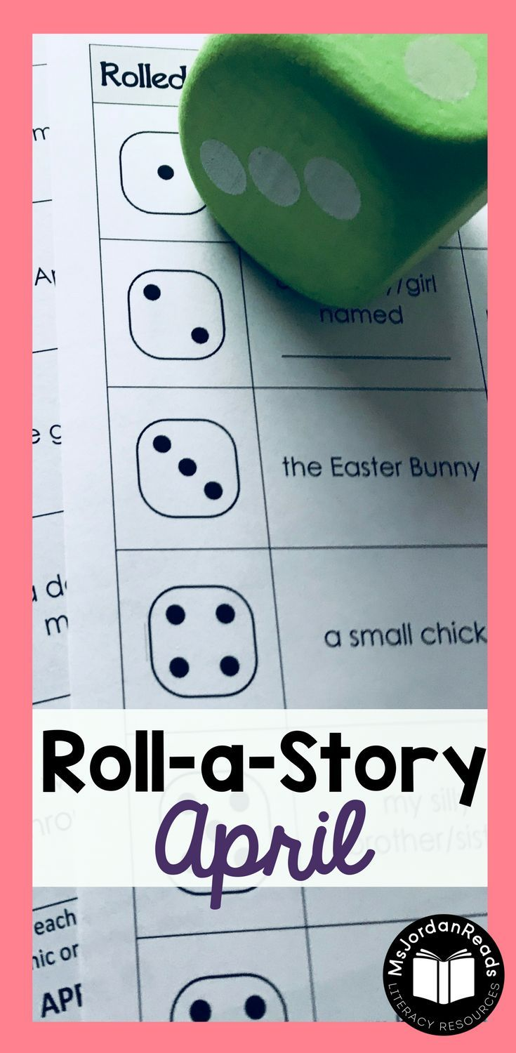 April} Roll-a-Story Writing Activity | 3rd Grade ELA Resources ...
