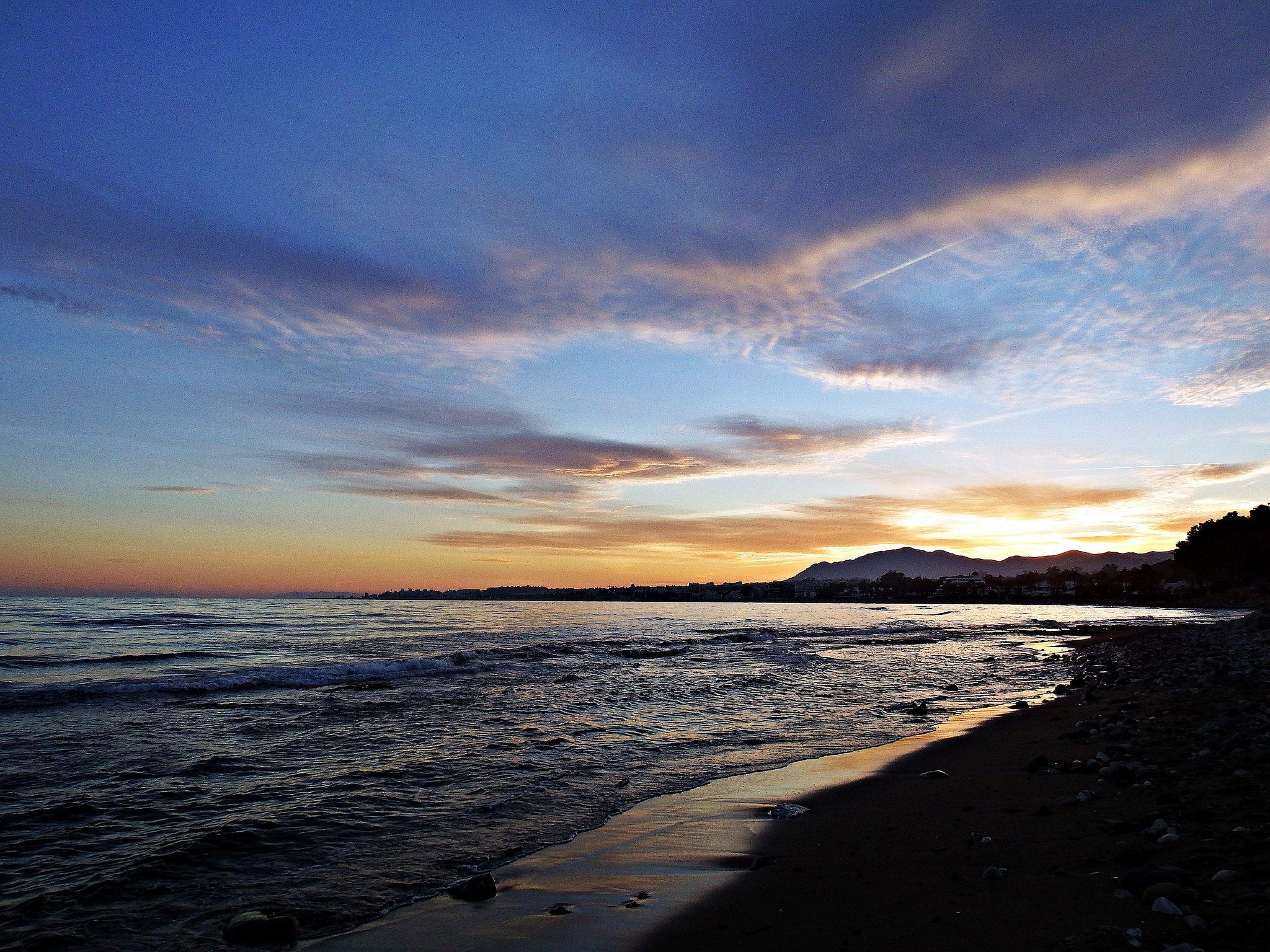 https://flic.kr/p/SapP7j | Atardecer | La costa del Mediterráneo, Marbella, España.