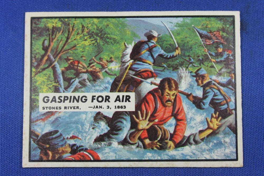 Details about 1962, Topps, Civil War News, 35 Gasping For