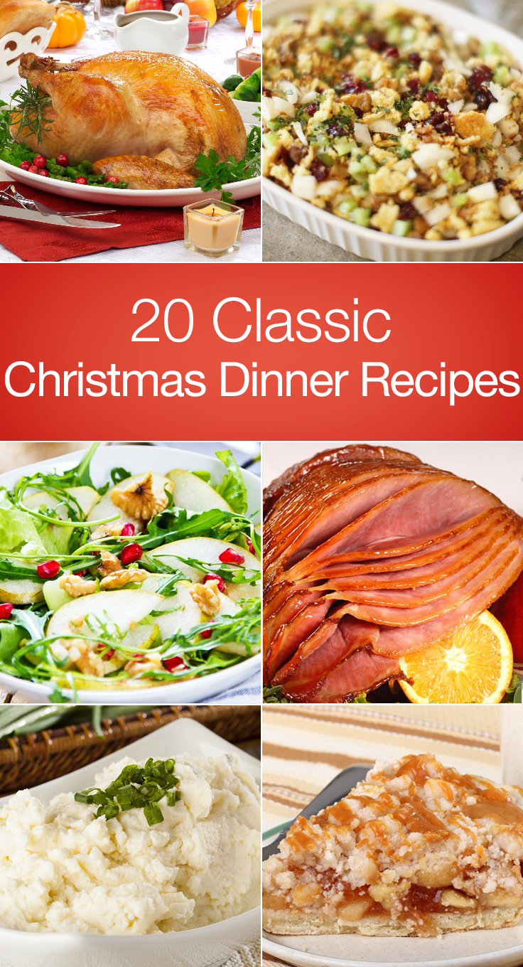 20 Classic Christmas Dinner Recipes Holiday Recipes Ideas