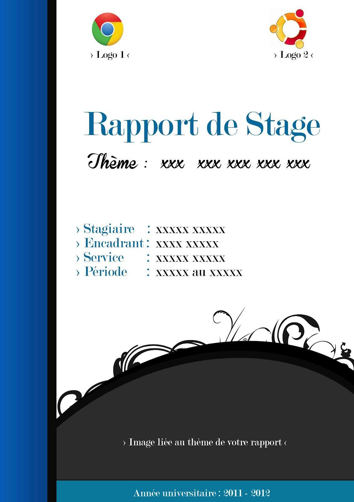 id u00e9e page pr u00e9sentation rapport de stage
