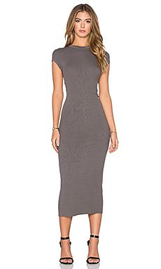 Shop for Enza Costa Rib Cap Sleeve Dress in Flint at REVOLVE. Free 2-3 day shipping and returns, 30 day price match guarantee.