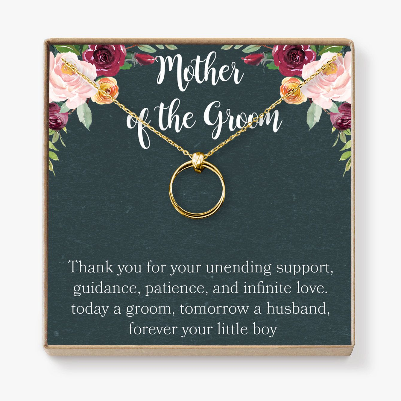 Mother Of The Groom Gift Necklace: Wedding Gift, Bridal