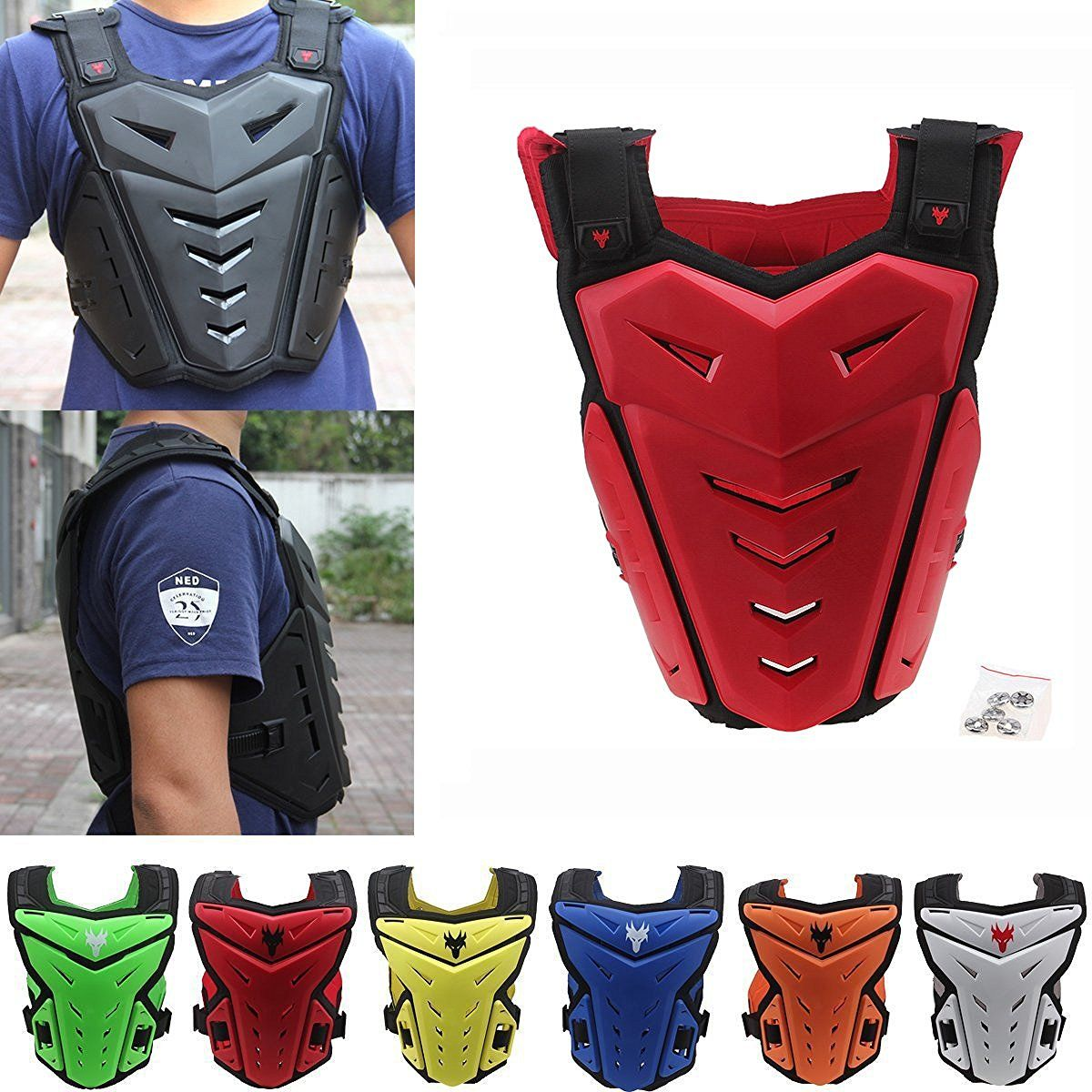 Amazon Com Possbay Motorcycle Body Armor Gear Back Chest Protectors Motocross Dirt Bike Unisex S To Xxl For Riding Cycling Skat Motocross Motorcycle Gear Bike