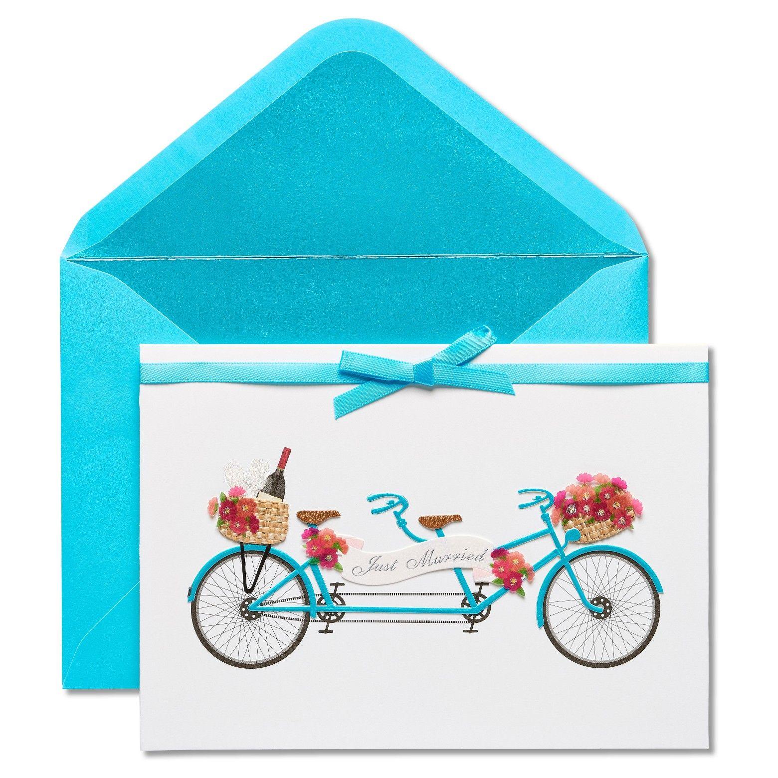 7cd754f355a Papyrus Tandem Bike Wedding Congratulations Card