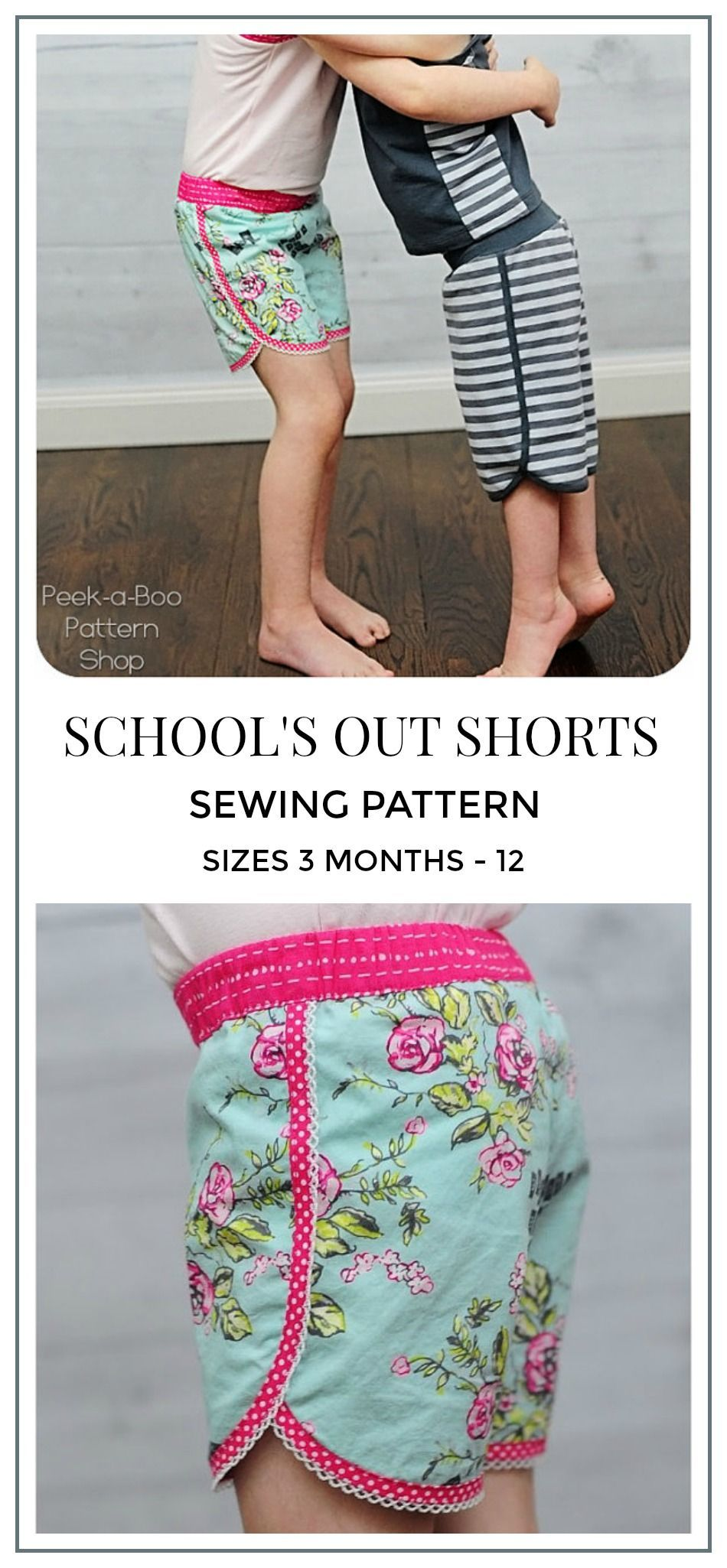 a2ae0069de School's Out Shorts Sewing Pattern: Running Shorts Pattern, Swim Shorts  Pattern, Girls Sewing Pattern, Boys Sewing Pattern #sewing #sewingpattern  ...