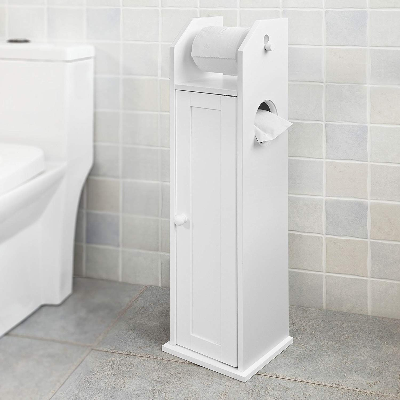 Sobuy Frg135 W Support Papier Toilette Armoir Porte Papier Toilettes Porte Bros Porte Papier Toilette Rangement Papier Toilette Meuble Rangement Salle De Bain