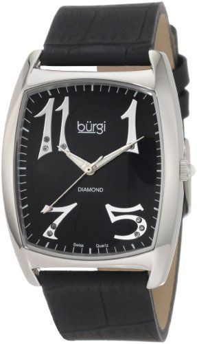 Burgi Women's BU36B 'Heart O' Diamonds' Swiss Quartz Diamond Classic Stainless Steel Watch Burgi. $90.00. Watch arrives in a Burgi gift box complete with a 2 year limited warranty. Altogether classy, women's large timepiece is a must-have for any collection. This watch features a diamond accents for a luxurious look.. Icon Fashion women's wristwatch by Burgi is all about stand-out style. Dial with dazzling pattern makes this timepiece so exceptional.. Save 80%!
