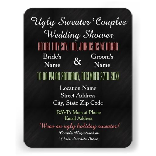 Ugly Sweater Couples Wedding Shower Invitation