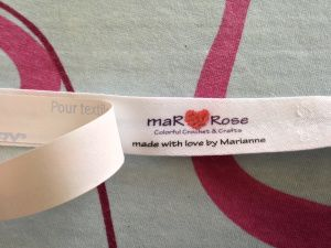 maRRose - CCC: make your own fabric labels for sewing into your handmade items