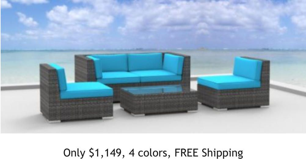 Outdoor Furniture Free Shipping No Sales Tax No Interest Financing Outdoor Liv Outdoor Wicker Patio Furniture Rattan Patio Furniture Modern Patio Furniture