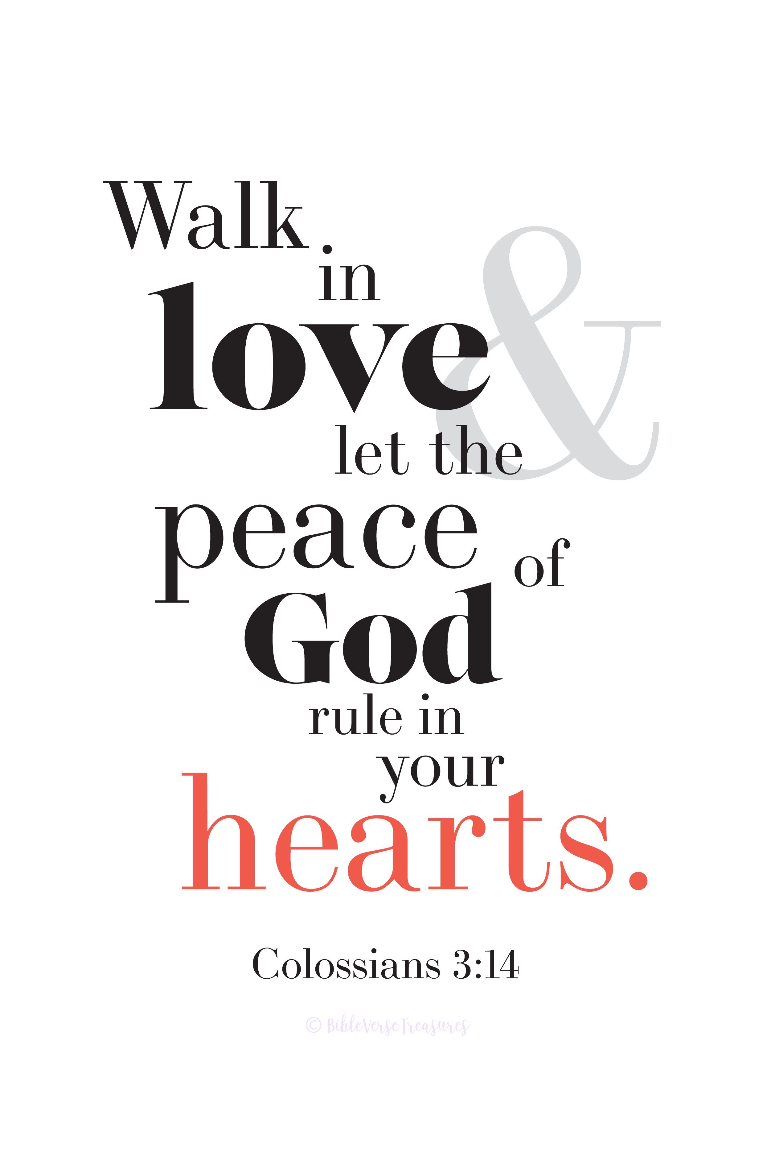 What God Says About Love And Peace