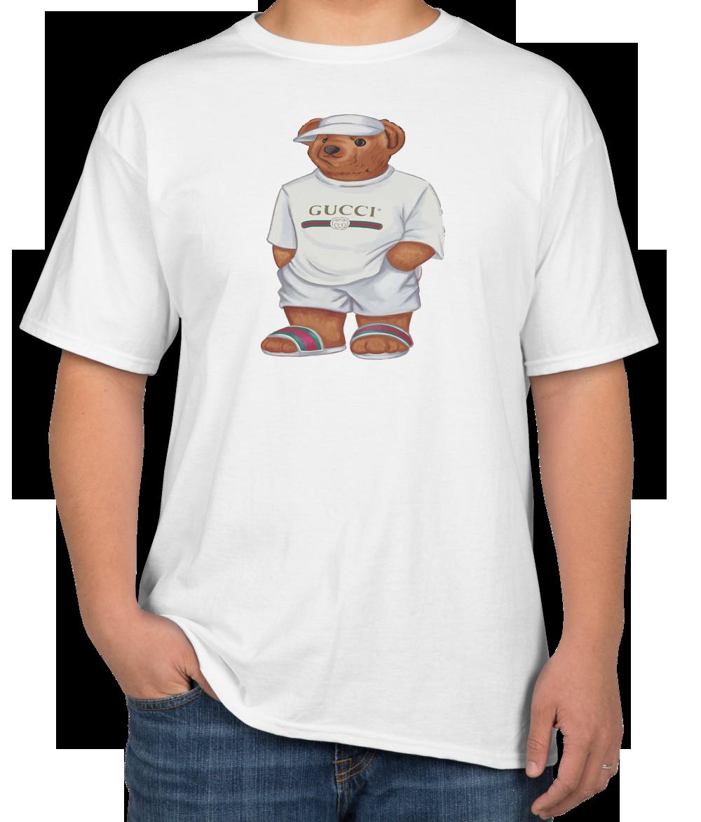 bd3e6ddfea839c Life's Gucci Bear Unisex T-shirt | TEEFLAT | Gucci shirts men, T ...