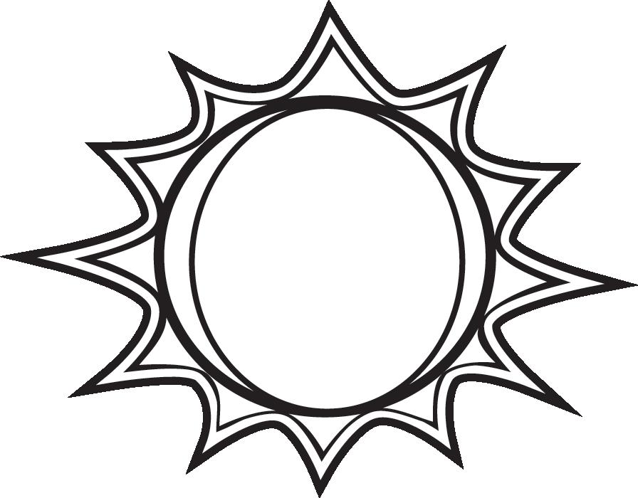 26+ Sun clipart black and white transparent background ideas