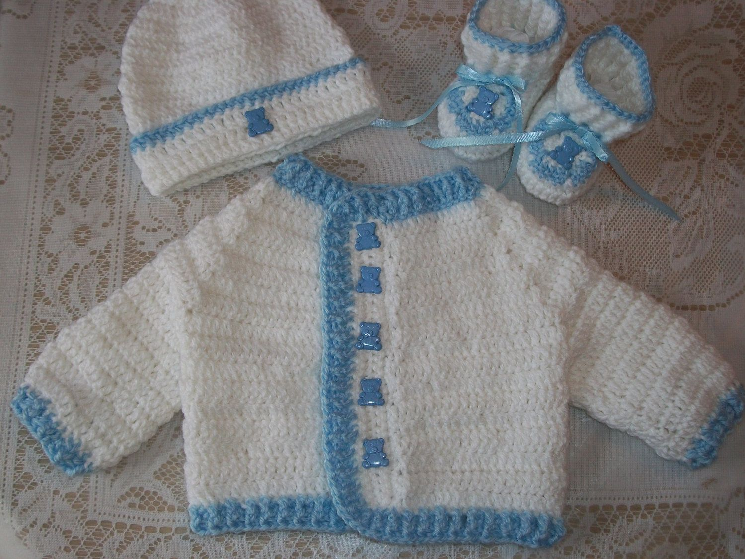 Crochet baby boy sweater set perfect baby by madewithlovebysuzieq crochet baby boy sweater set perfect baby by madewithlovebysuzieq bankloansurffo Choice Image
