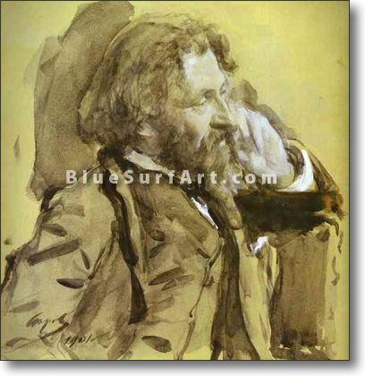 Portrait of the Artist Ilya Repin - £124.99 : Canvas Art, Oil Painting Reproduction, Art Commission, Pop Art, Canvas Painting