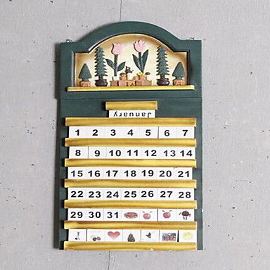 Wall Decor Wood Retro Wall Art Calendar Movable | Retro, Decor and ...