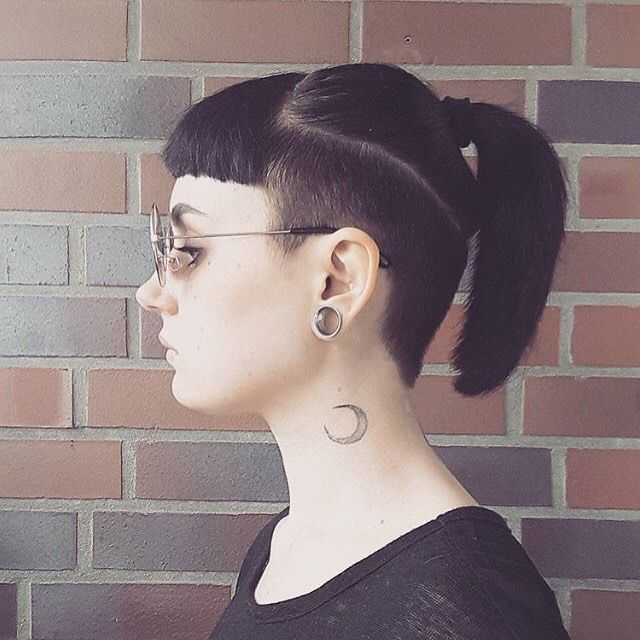love this edgy undercut and fringe