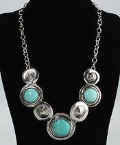 """3 Turquoise Necklace  $17.00  Pendant Size (0.90 x 1.57)"""" / (2.3 x 4) cm(D x H) Necklace Length 6.69"""" / 17.0 cm Weight 82.0 g / 2.89 oz"""