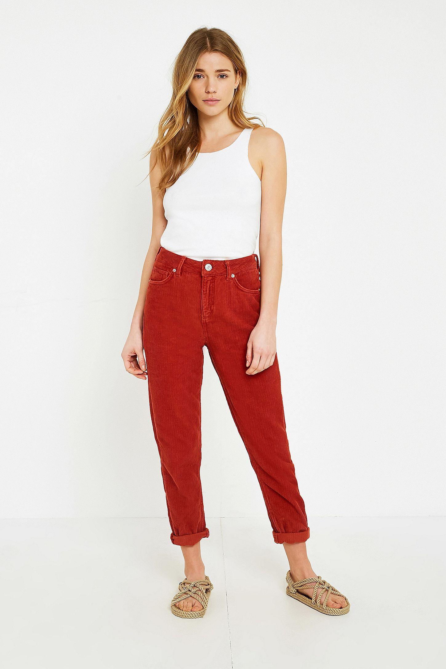 BDG Oxblood Red Mom Jeans   Clothing   Jeans, Mom jeans, Bdg jeans e3deb0baf2