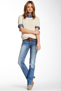 MEK Denim Straight Leg Jean