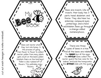 All About Bees minibook, graphic organizers freebie