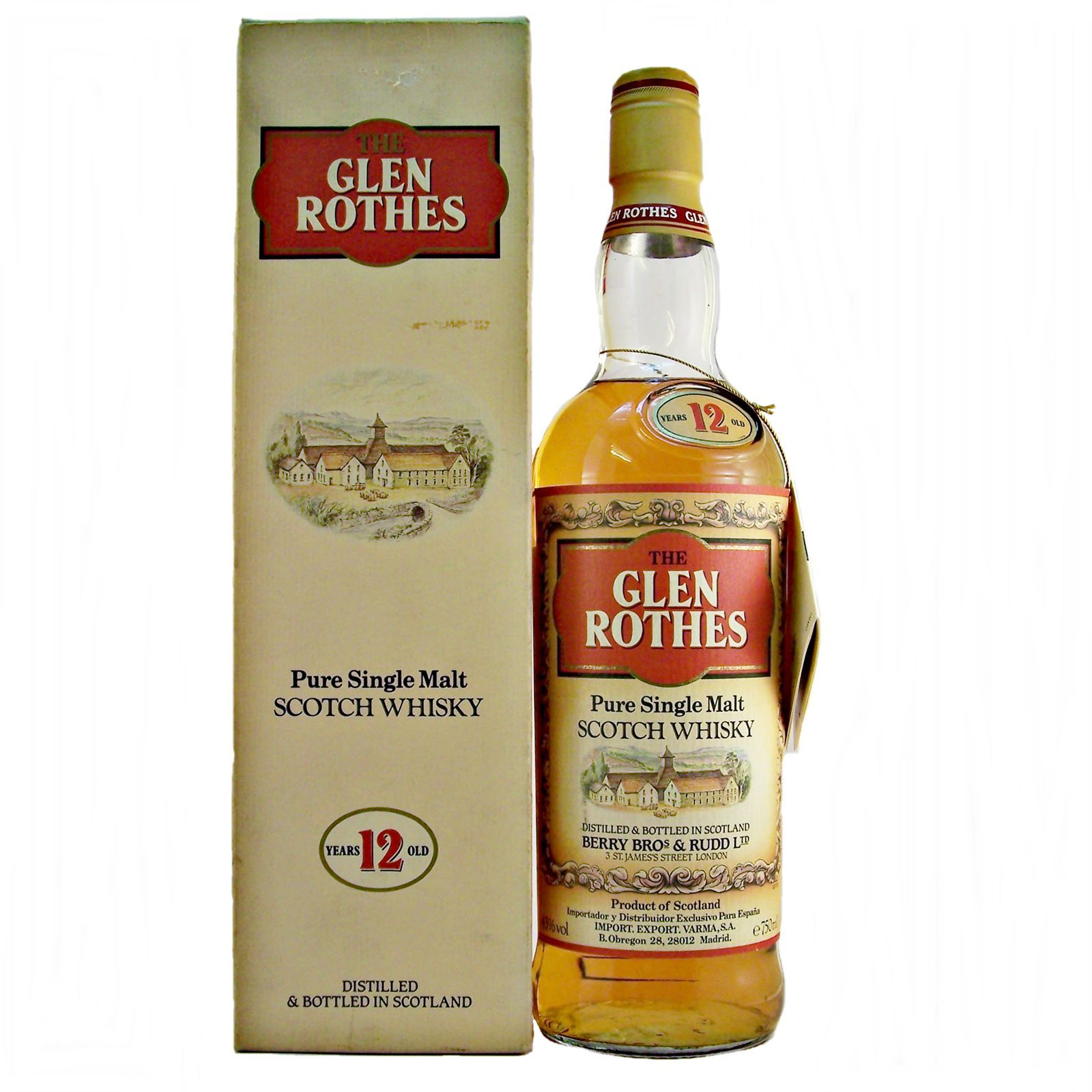 Glenrothes Single Malt Whisky 12 year old 1980s Disconinued bottling by Berry Brothers 7 Rudd limited available at whiskys.co.uk