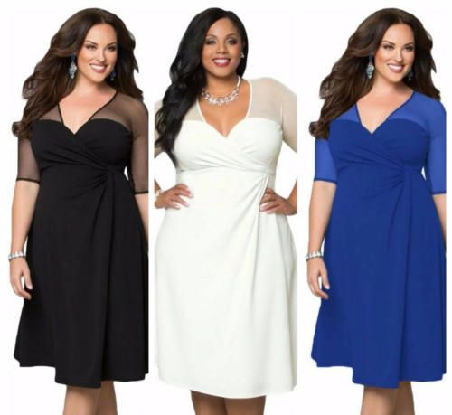 Work Plus Size Formal Dresses