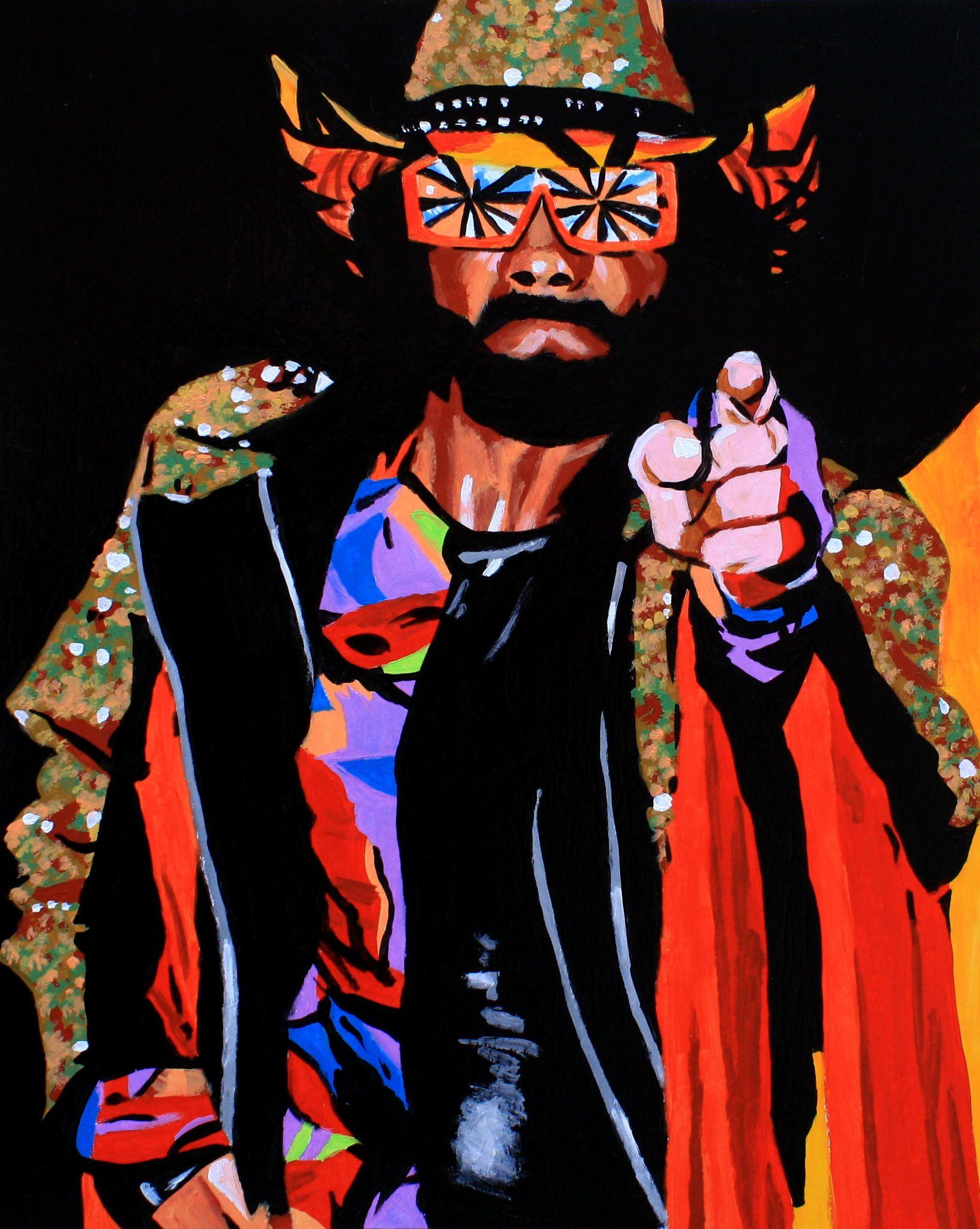 The Macho Man Randy Savage L Acrylic On 16 X 20 Board L Http