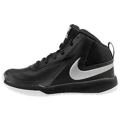 4080e1e6d9a8 Nike Team Hustle D 7 Gs Big Kids 747998-001 Black Basketball Shoes Youth Sz  5.5