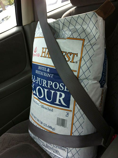 This Is The Size Of The Bag Of Flour That Mary Had Given To Crabbe