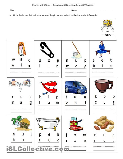 picture about Free Printable Cvc Worksheets identified as Pin upon ABC Phonics
