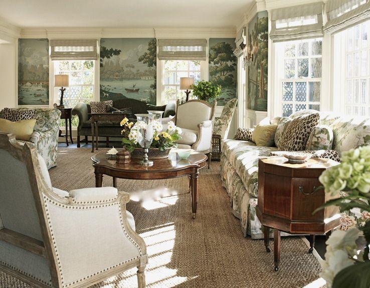Larry Hooke design ~ LIVING ROOM Dorthy Draper-Old School Waspy - wandbilder wohnzimmer landhausstil