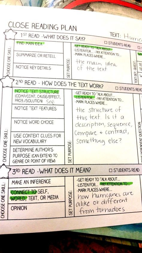 Taking the Rocket Science out of Close Reading Anchor charts - how to make a chart in word