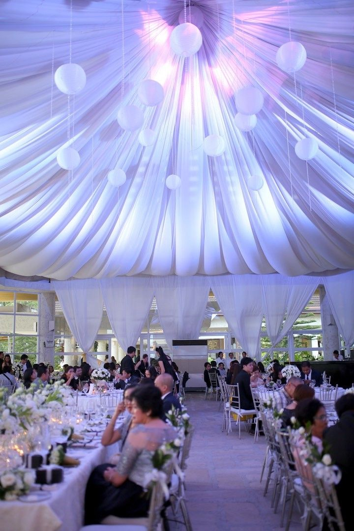 Pristine White Philippines Wedding Wedding Reception Ideas