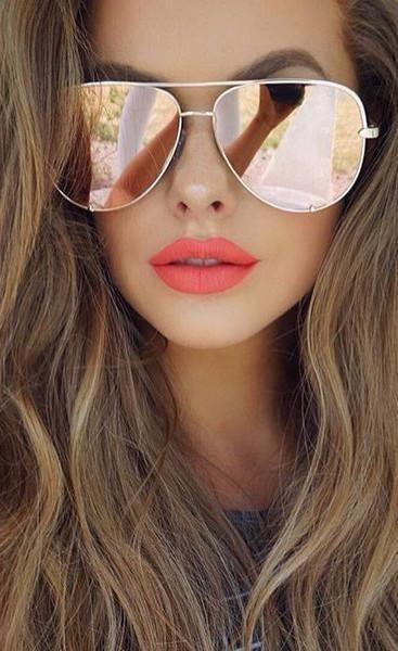 7c6d39529fa Quay Vivienne Gold Rose Mirror Sunglasses