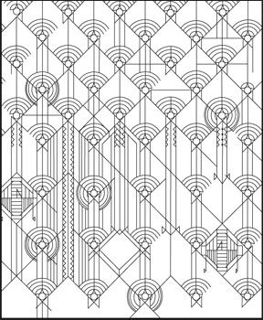 Designs by Frank Lloyd Wright Coloring Book | architecture ...