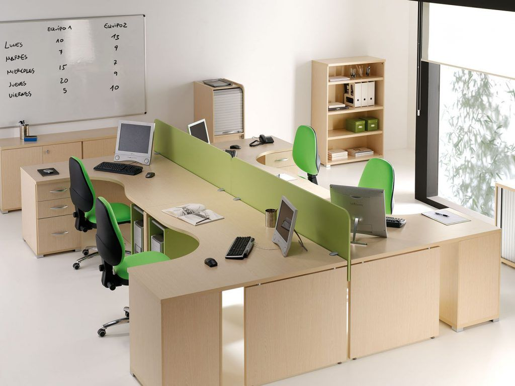 Oficinas estaciones multiples con divisiones muebles - Muebles casanova catalogo ...