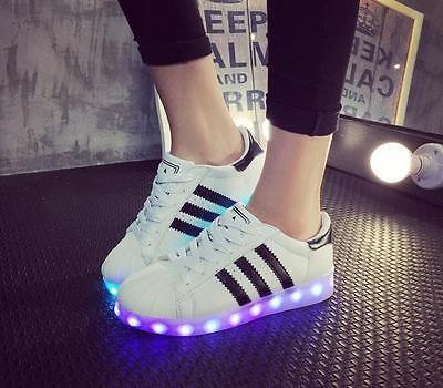 Blinkende Damen Unisex Sneakers Farbwechsel Led Light Schuhe