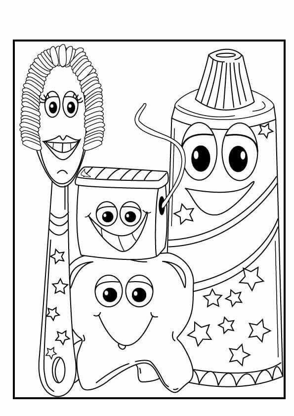 Vile Things Dental Kids Dental Health Preschool Crafts Dental Health