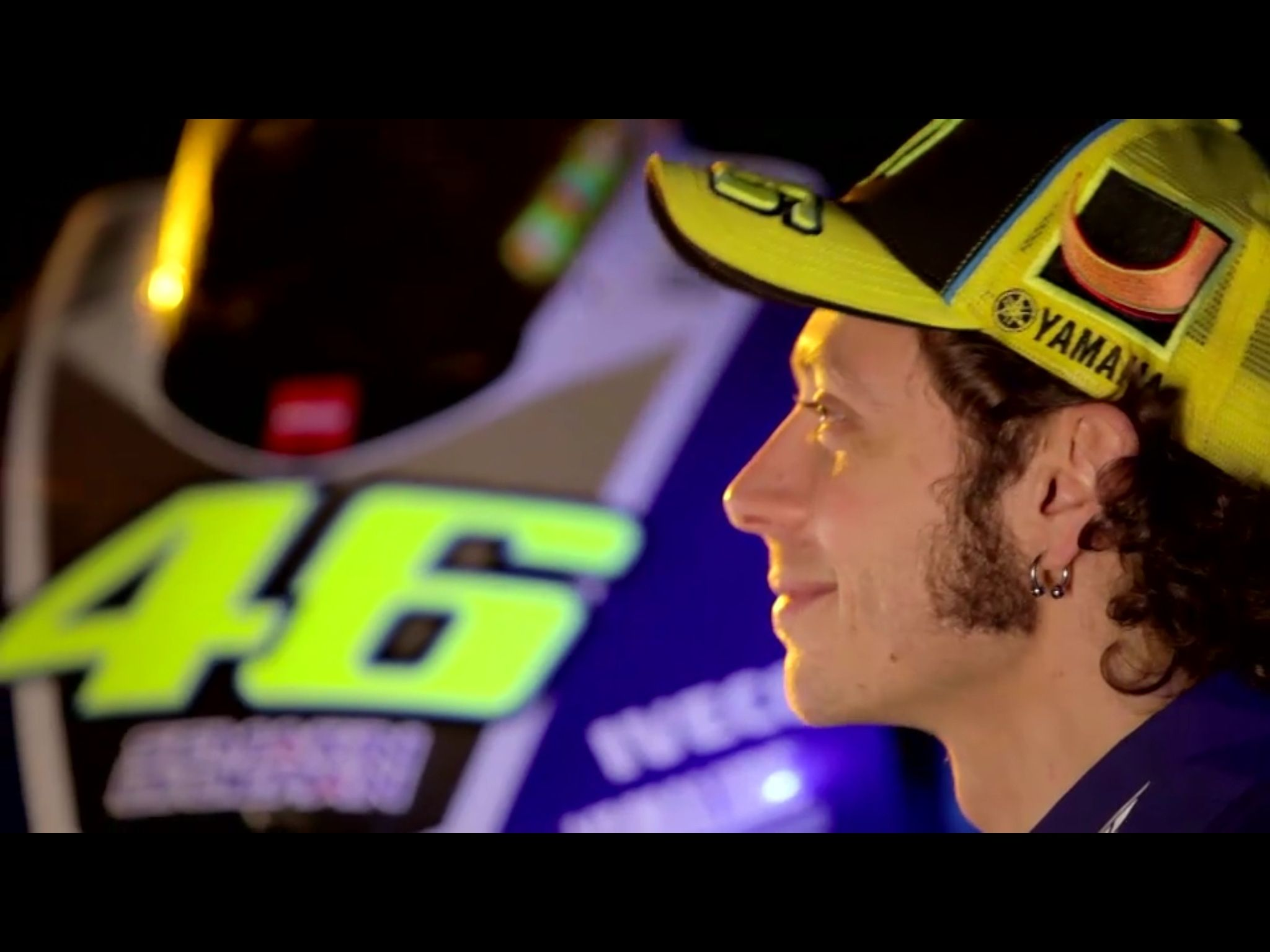 Rossi with New M1 for Moto GP 2013